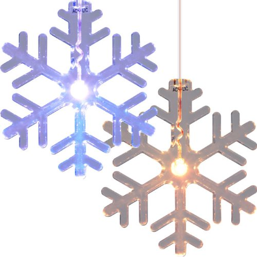 NEW Set of 2 LED Color Changing Snowflake Window Decorations (New Products)