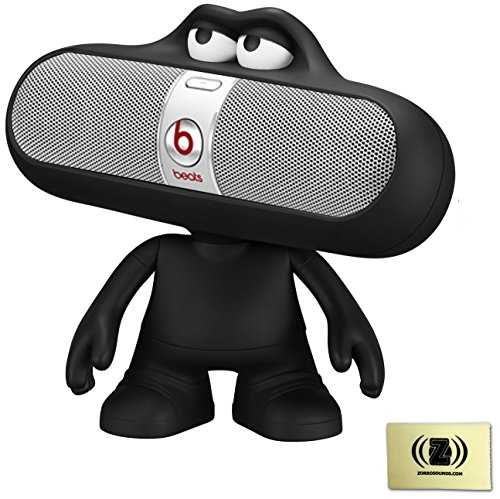 Beats By Dr. Dre Pill Portable Speaker (Silver) Bundle With Beats Pill Dude (Black)