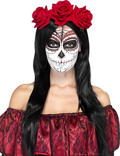 Mexican Sugar Skull Red Rose fiore archetto