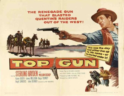 Top Gun 1955 Vintage Film Poster Starring Sterling Hayden
