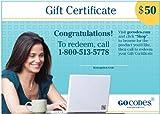 GoCodes $50 Gift Certificate