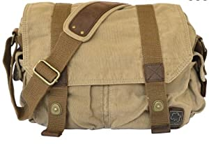 "Canvas Heavy Duty Over the Shoulder Messenger Bag 12.5"" length"