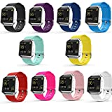 Fitbit Blaze Accessories Band, SailFar 10-Pack TPU Classic Bracelet Strap Replacement Wristband/Watch Bands Large/Small for Fitbit Blaze Smart Fitness Watch (10PCS(Multi-Colors), Large)