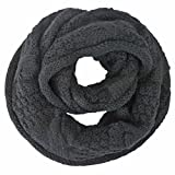 Luxury Divas Cable Knit Winter Infinity Scarf