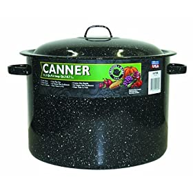 Granite Ware 11-1 2 Quart Covered Preserving Canner with Rack by Pressure Cookers