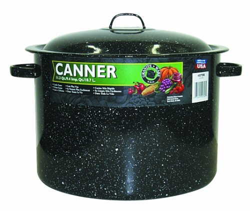 Granite Ware 0706-2 Covered Preserving Canner with Rack, 12-Quart