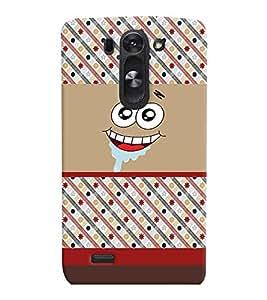 PrintVisa Cute Cartoon Patter Smiley 3D Hard Polycarbonate Designer Back Case Cover for LG G3 BEAT