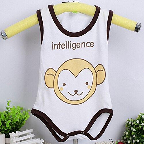 [Eonkoo Cute Animal prints baby -Girls sleeveless Bodysuit ,100% Cotton soft Comfortable skin Newborn] (R2d2 Costume Pattern)