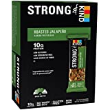 STRONG & KIND Roasted Jalapeno Savory Snack Bars, 1.6 Ounce, 12 Count