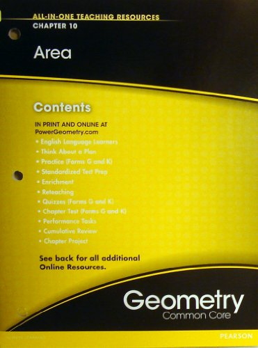 Area Chapter 10 (All-In-One Teaching Resources Geometry Common Core)