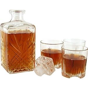 Whiskey Decanter & Glassware Set - 7 Pieces