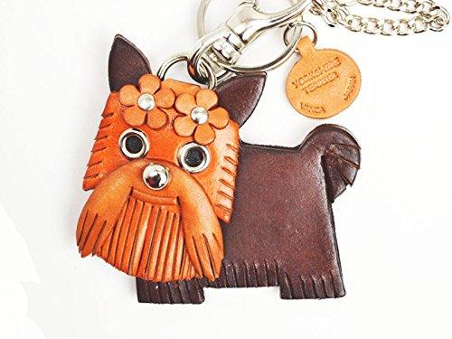 Yorkshire Terrier/Yorkie Genuiine Leather Animal/Dog Bag Charm/Keychain *VANCA* Handmade in Japan 3d Yorkie Dog Charm