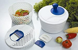 Jumbo Salad Spinner All in One w  Grater by Salad Spinner
