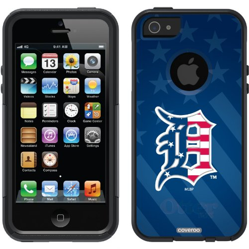 Best Price Detroit Tigers - USA Blue design on a Black OtterBox® Commuter Series® Case for iPhone 5s / 5