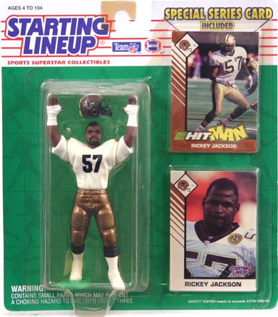 1993 Rickey Jackson New Orleans Saints Kenner SLU Starting Lineup NFL Football Figure