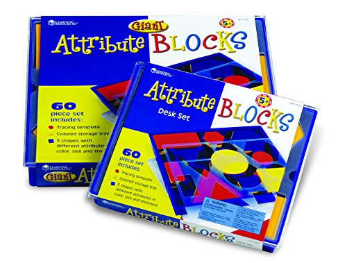 Learning Resources Attribute Blocks Desk Set In Tray - 1