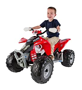 Peg perego polaris outlaw 12v ride on quad bike for Peg perego polaris outlaw