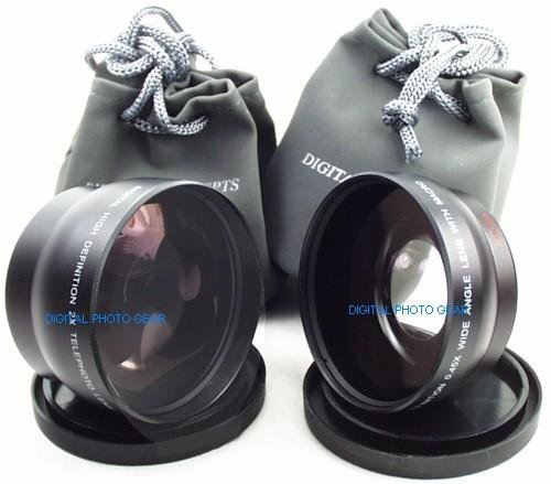 58Mm .43X Wide Angle Lens With Macro + 2X Telephoto Lens For Canon Rebel (T4I T3I T3 T2 T2I T1I Xt Xti Xsi Xs), Canon Eos (1100D 600D 550D 500D 450D 400D 350D 300D 60D 7D) + Premium Dpgear Microfiber Cleaning Kit & Universal Lcd Screen Protector