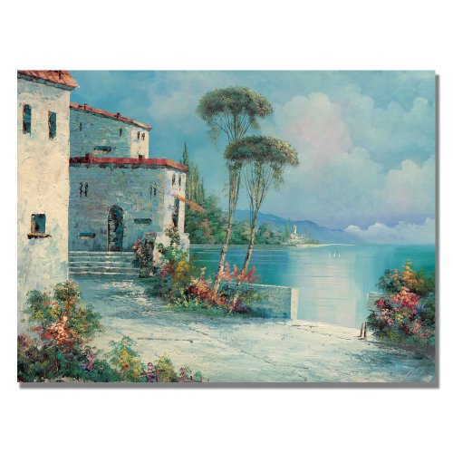 Trademark Fine Art Ballagio by Master's Art Canvas Wall Art, 18x24-Inch