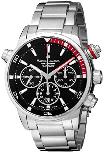 Maurice Lacroix Men'S Pt6018-Ss002-330 Pontos Analog Display Swiss Automatic Silver Watch