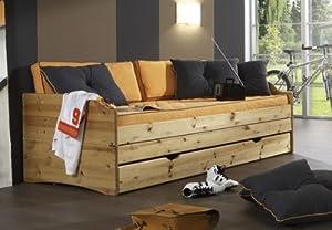 jugendbett einzelbett liege mit zusatzbett kiefer massiv flipper 26010 farbe gebeizt ge lt. Black Bedroom Furniture Sets. Home Design Ideas