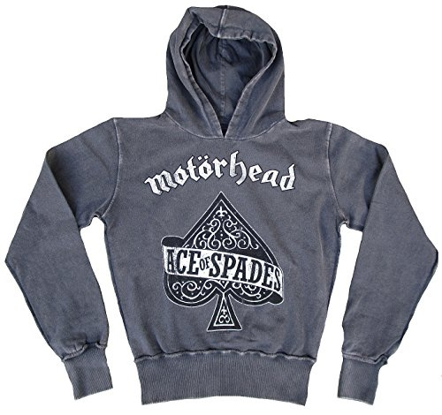 Amplificato da donna in acciaio INOX con cappuccio grigio felpa sweat-shirt Official for-collectors-only Ace Of Spades Rock Star Vintage grigio 48