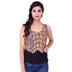 FBBIC Women's Party Wear Embroidered Cotton Shrug