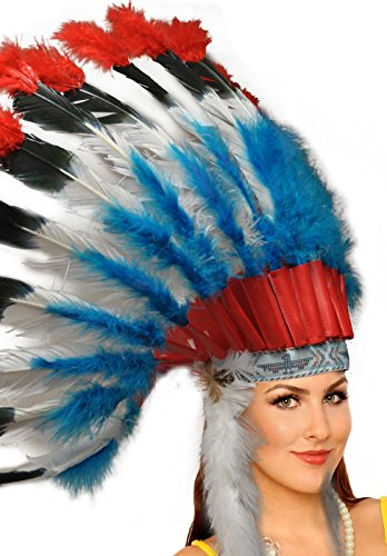 Adult Unisex Native American Feather Headdress