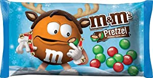 M&M's Pretzel Chocolate Candies for the Holidays, 9.9-Ounce (Pack of 6)