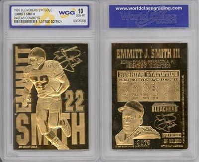 1995 Emmitt Smith Cowboys 23k Gold Card