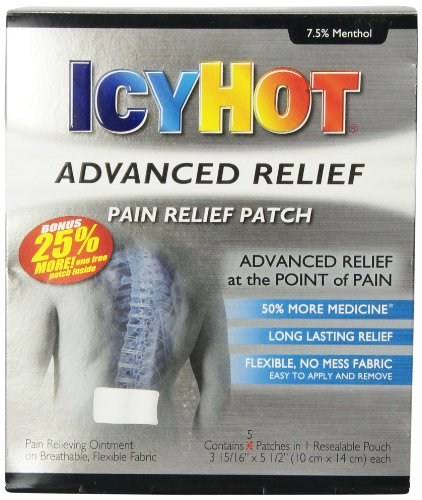 Icy Hot Advanced Relief Pain Relief Patches, 5 count (Advanced Relief compare prices)