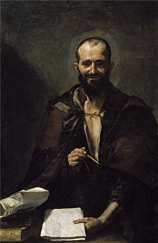 Oil Painting 'Ribera Jose De Democrito 1630', 8 x 12 inch / 20 x 31 cm , on High Definition HD canvas prints is for Gifts And Foyer, Living Room And Nursery Decoration, personal (Leopard Print Tea Kettle compare prices)
