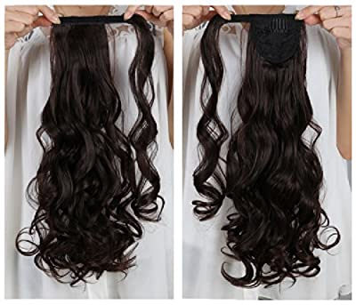 "Onedor 20"" Long Curly Wrap Around Ponytail Hair Extension Synthetic 120g-130g"