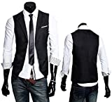 メンズ ビジネス ジレ ベスト スーツ 地 襟付 【InField】 フォーマル カジュアル サロン 系 紳士 ランキングお取り寄せ