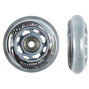 Rollerblade Performance Wheel Kit with SG5 Quality Bearings (8-Pack) by Rollerblade