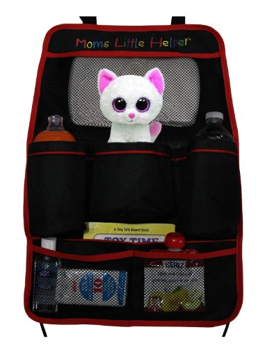 Premium Backseat Organizer - Best Car Organizer for Adults, Kids, Toddlers, & Baby - Organizes & Stores Accessories While Travelling - Protects Seats - Perfect for Cars, Minivans, Trucks & SUVs - Spacious 7 Pocket Storage Design - FULL LIFETIME GUARANTEE