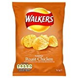 Walkers Roast Chicken Flavour Crisps 48x32.5g