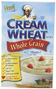 Cream Of  Wheat Whole Grain Stove Top 2 1/2 minutes, 18-Ounce Boxes (Pack of 4)