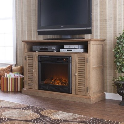 Cheap Fox 48″ TV Stand with Electric Fireplace in Weathered Oak (CSN8039E)