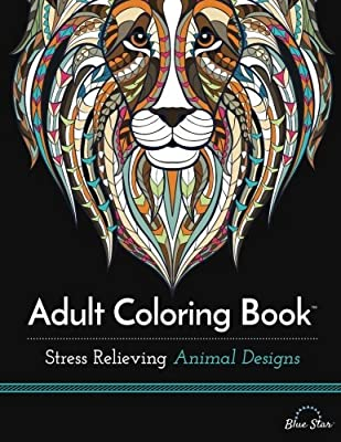 Adult Coloring Book: Stress Relieving Animal Designs and Twiggler Art Set