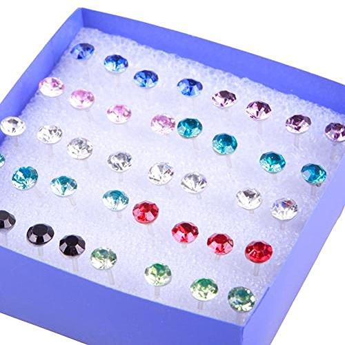 TR.OD Wholesale 20 Pairs Crystal Rhinestone Round