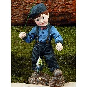Boy fishing statue for Little boy fishing statue