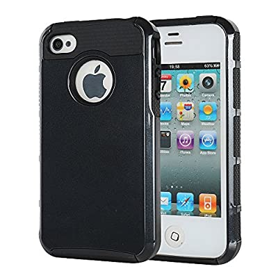 iPhone 4 4s Case, MTRONX™ Shockproof Hybrid Hard Soft TPU Case Bumper For Apple iPhone 4, iPhone 4s by MTRONX