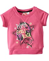 PUMA Little Girls' Little Short Sleeve Star Graphic Sweatshirt