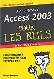 echange, troc A. Barrows - Access 2003 : Mini référence pour les nuls