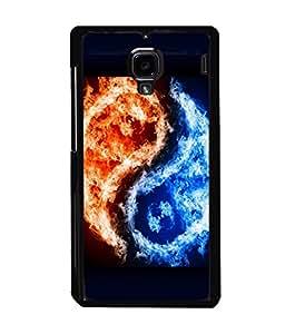 printtech Chinese Yin Yang Fire Ice Back Case Cover for Xiaomi Redmi 1S::Xiaomi Redmi (1st Gen)