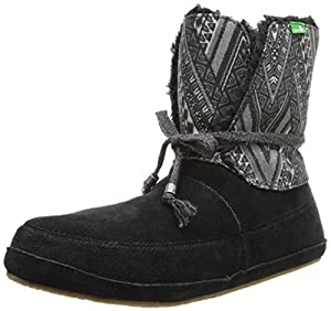 Sanuk Women's Soulshine Chill Snow Boot,Black,6 M US