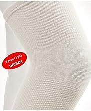CzSalus - Calentador de rodilla (lana de angora, 2 unidades)