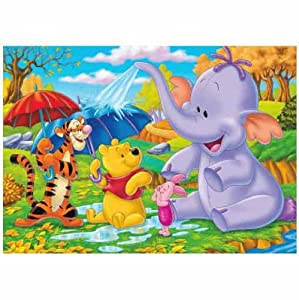 disney winnie poo and friends photo wall mural diy tools. Black Bedroom Furniture Sets. Home Design Ideas