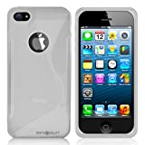 MiniSuit S Shape Case for Apple iPhone 5 - TPU Silicone Skin Cover (Frosted/Clear)